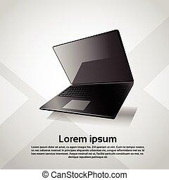 sensible, diseño, computadora de computadora portátil, moderno, dispositivo