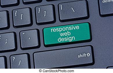 sensible, toile, informatique, conception, clavier