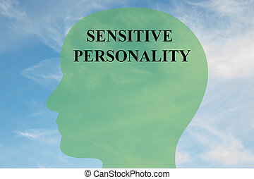 Sensitive Personality brain concept - Render illustration of...