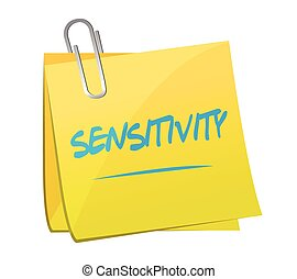 sensitive post it memo illustration