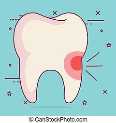 sensitivity dental care icon