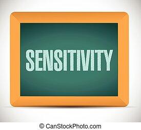 sensitivity message sign illustration design over a white...