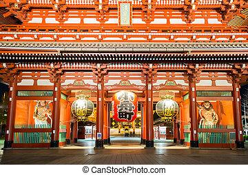 sensoji, templo, tokio