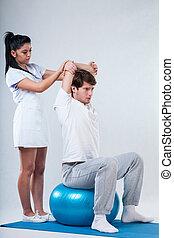 Sensomotoric exercise on fitness ball