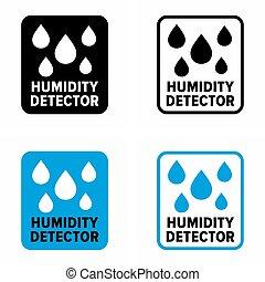 "Sensor 'humidity detector"" part of smart home information sign"