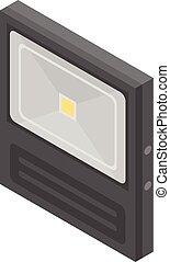 Sensor led light icon, isometric style