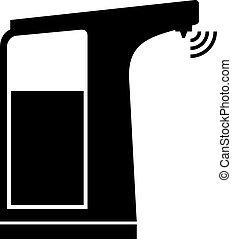 Sensor soap dispenser, shade picture