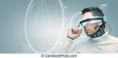 sensors, 眼鏡,  3D, 未來, 人