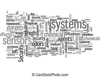 Sensors Used To Step Up Security text background wordcloud concept