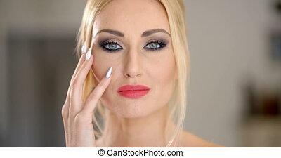 Sensual attractive blond woman