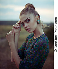 Sensual beautiful young woman - Portrait of sensual...