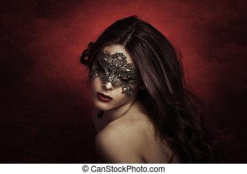 sensual beauty - sensual beautiful young woman with lace...