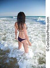 sensual bikini woman