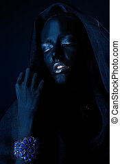 sensual black woman