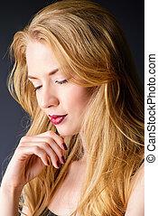 sensual blonde woman