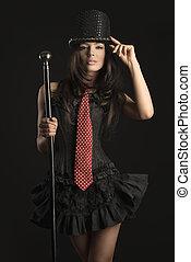 sensual cabaret actress - sexy cabaret female actress with ...