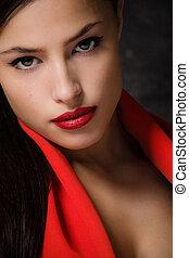 sensual female portrait, closeup