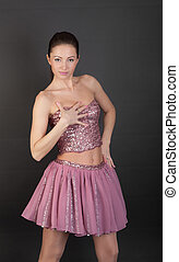 sensual girl in pink