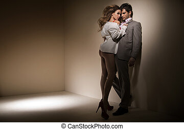 Sensual lady trying to seduce innocent man - Sensual lady...