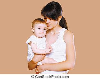 Sensual mom and baby