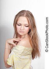 sensual portrait of a girl