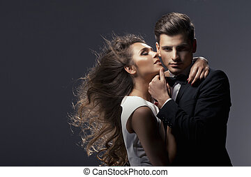Sensual portrait of cute couple