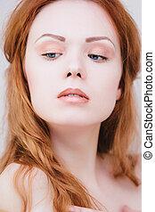 Sensual redhead girl