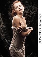 Sensual redhead girl - Sensual portrait of young redhead...