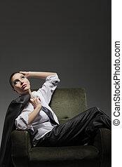 sensual, retrato de mujer, modelo