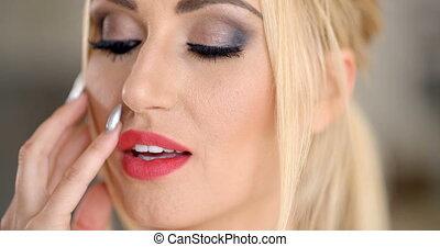 Sensual seductive blond woman