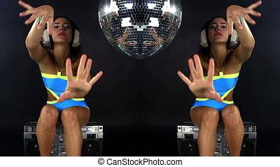 sensual shot of a beautiful woman dancing