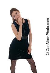girl in a dark dress
