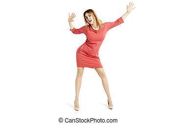 Sensual woman dancing
