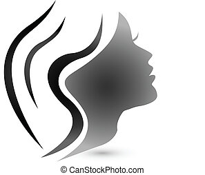 Sensual woman fashion logo