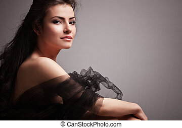 sensual woman - lovely sensual young woman portrait small...