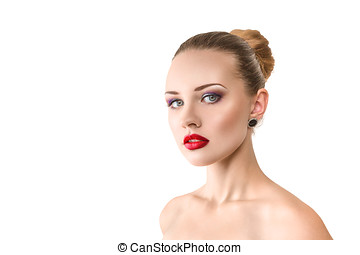 Sensual woman - Sensual young woman looking at camera...