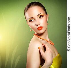Sensual woman with beautiful make-up