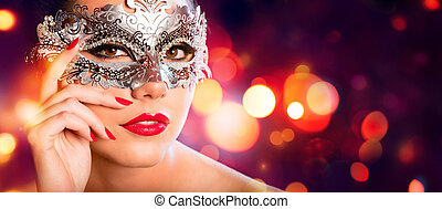 Sensual Woman With Carnival Mask -