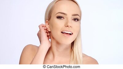 Sensual young blond woman
