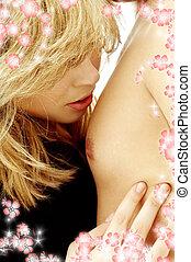 sensualità, con, fiori, #3