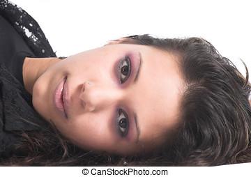 Sensuality - Beautiful teenager in sensual pose