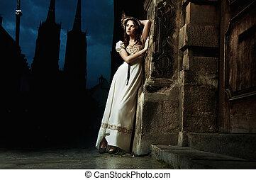 sensuell, omodern, ung kvinna