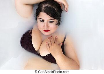sensuelles, lingerie, femme
