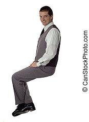 sentado