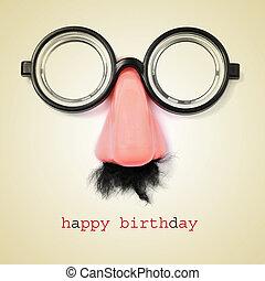 happy birthday - sentence happy birthday and fake...