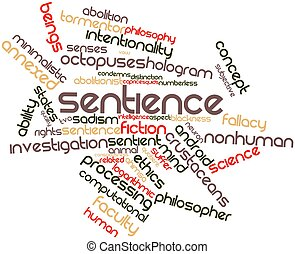 Sentience - Abstract word cloud for Sentience with related...