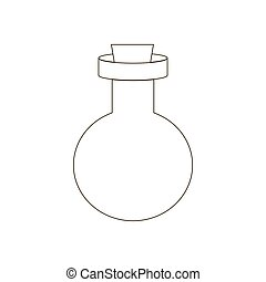 sentier, bouteille, illustration
