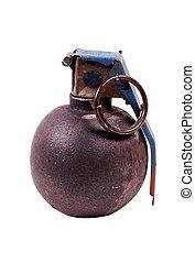 sentier, coupure, -, grenade, main