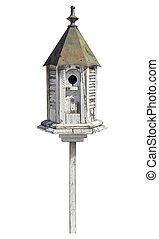 sentier, coupure, vieux, isolé, birdhouse