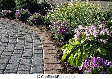 sentier, jardin
